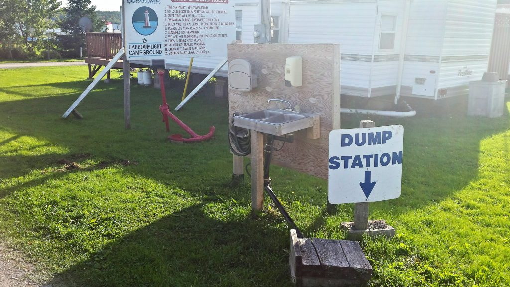 Image of the dump station at Harbour Light Campground.