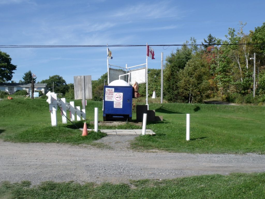 Image of the propane station at Harbour Light Campground, Pictou NS.