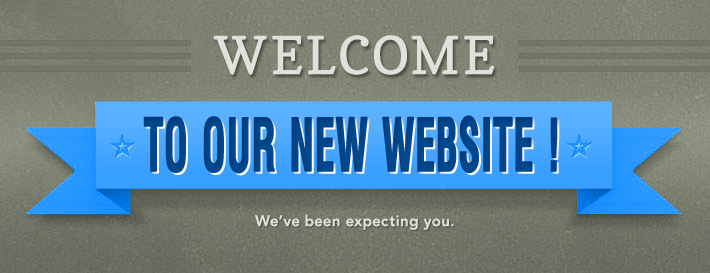 Image of a sign saying Welcome to our New Website.