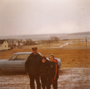 Image of the original founder of Harbour Light Campground and the current owner as a child.