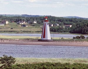 Image of the Pictou Landing Lighthouse.