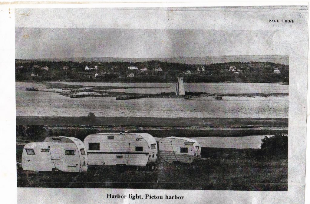 Image of Harbour Light Campground in it's early days, including trailers.