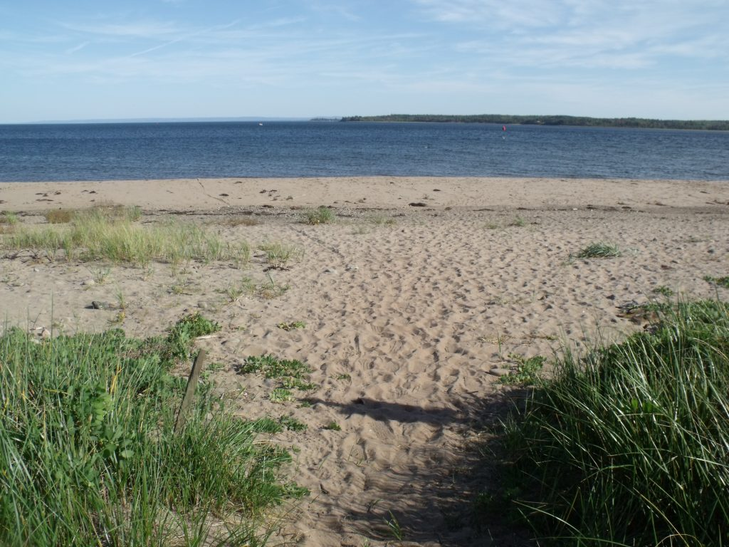 Image of the beach at Harbour Light Campground, Pictou NS. 4