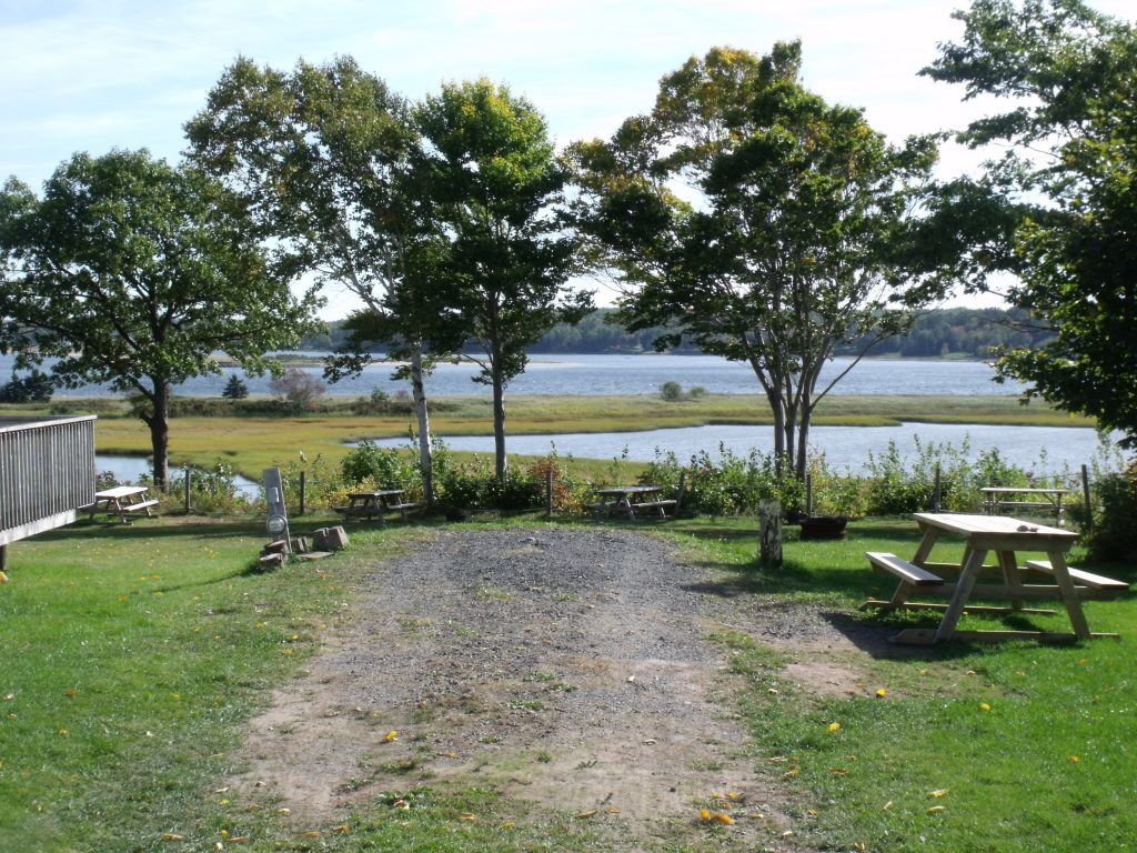 2 Image of sites on the waterfront at Harbour Light Campground.