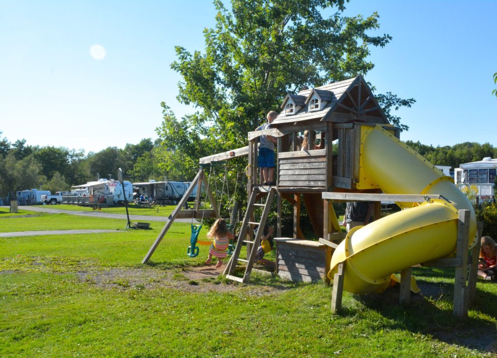 Image of a playhouse at Harbour Light Campground.