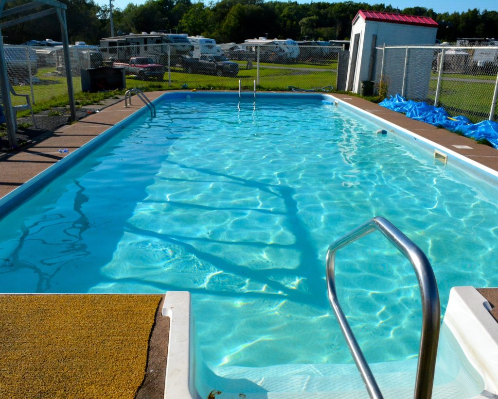 Image of the pool at Harbour Light Campground, Pictou NS.