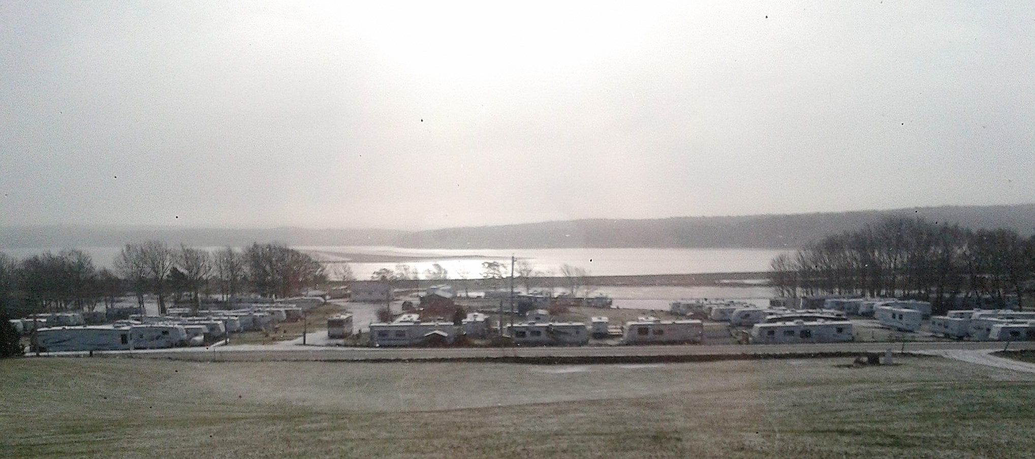 Image of Harbour Light Campground with snow on the ground. Closed for the Season.